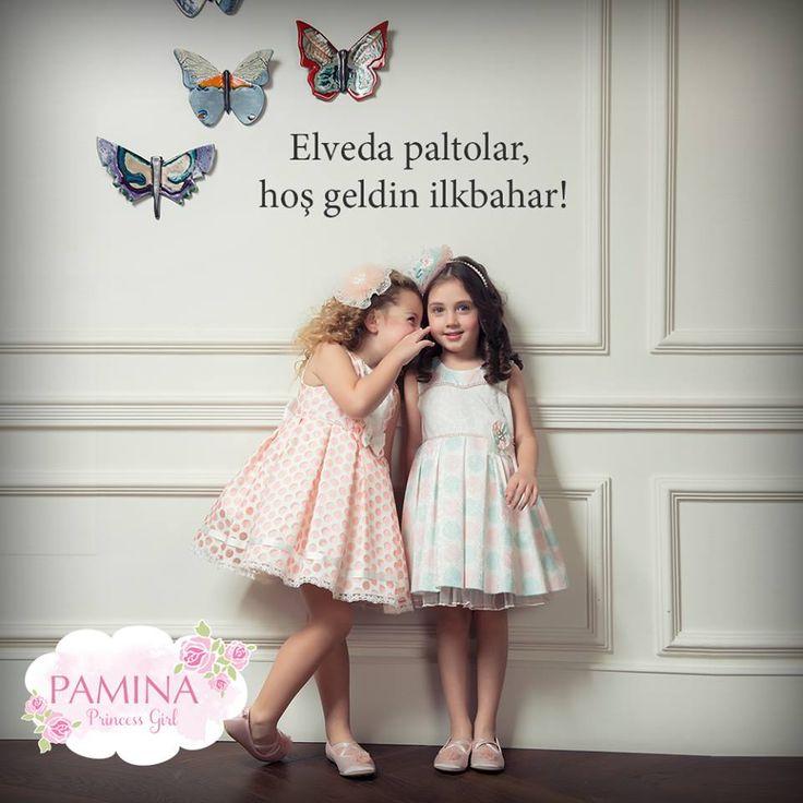 Pamina kızları ilkbaharda çok şık!  Pamina princess girls are so chic at spring! :)  #paminakids #princess #girls #spring #summer2015 #kidsfashion #dress #elbise #yazmodası #ilkbaharyaz2015