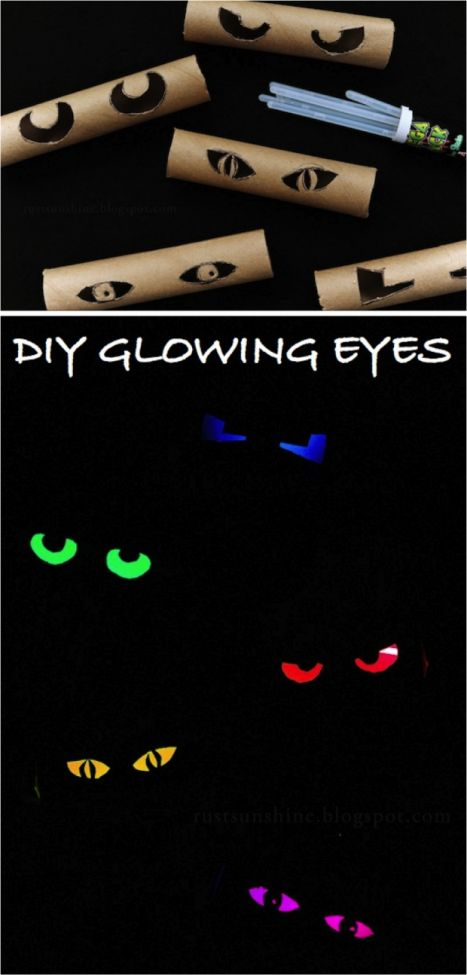 glowing eyes Party Craft Decoration idea for kids