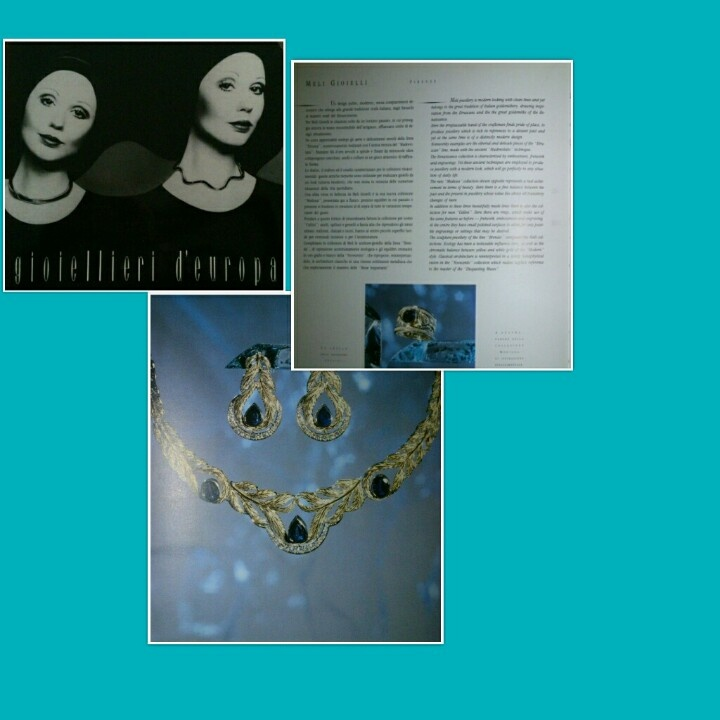 "#Meli #Gioielli #Firenze su ""#Gioiellieri d'Europa"" 1990 - #MeliGioielliFirenze on ""#Jewellers of #Europe"" #1990"