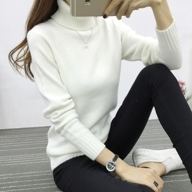 Check it on our site Candy Color Women Turtleneck Sweater 2016 Winter Warm Pullover White Pink 8 Colors Jumper High Quality Women Oversized Sweater just only $15.60 with free shipping worldwide  #womansweaters Plese click on picture to see our special price for you