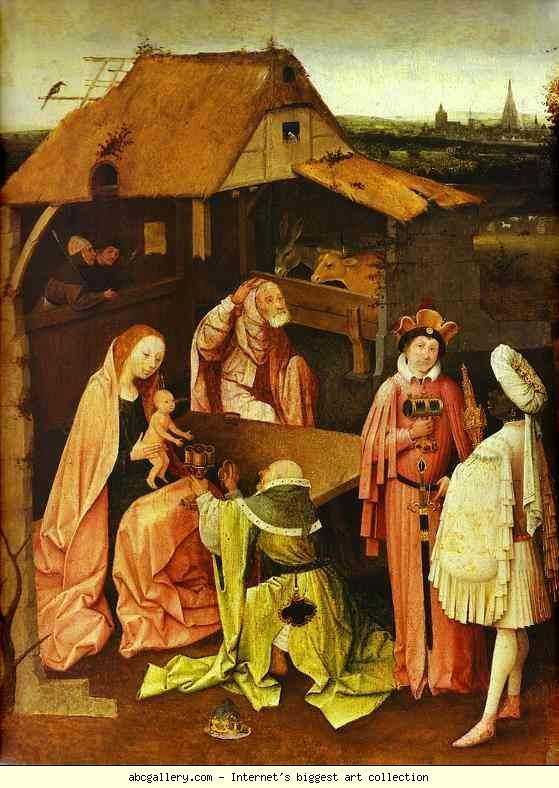 Hieronymus Bosch. Epiphany. Olga's Gallery - Epiphany. 1480-1490. Oil on panel. Philadelphia Museum of Art, Philadelphia, PA, USA. 1480-1490: