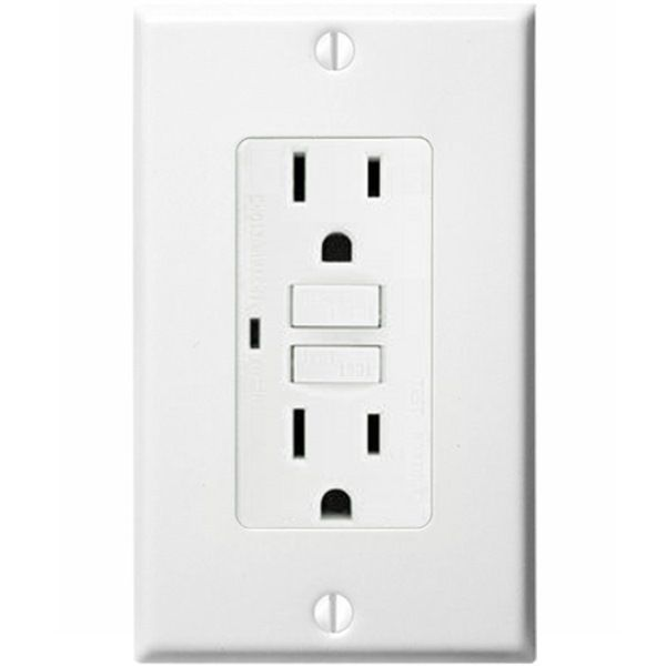 Gfci Outlet 15 Amp General Protecht Gpg615 W 1000bulbs Com With Images Gfci Outlet Electrical Outlets