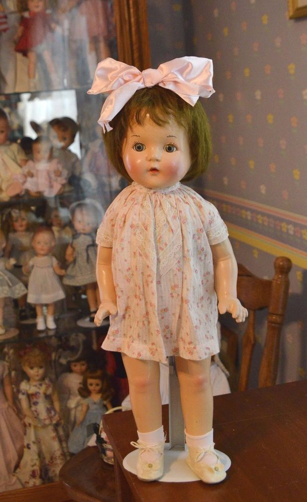 PETITE SALLY; AMERICAN CHARACTER 20 in. Composition and cloth doll 1930 #AmericanCharacter #Dolls