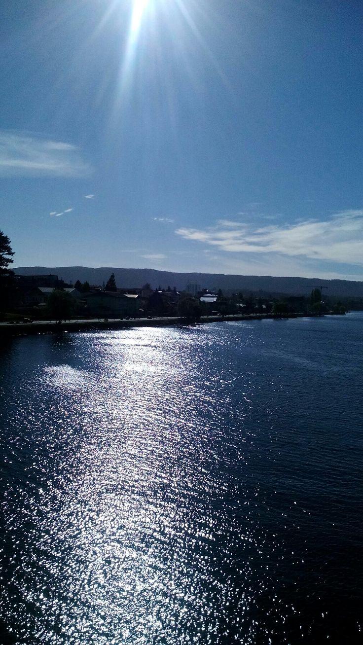 Vista desde unos de los puentes de valdivia