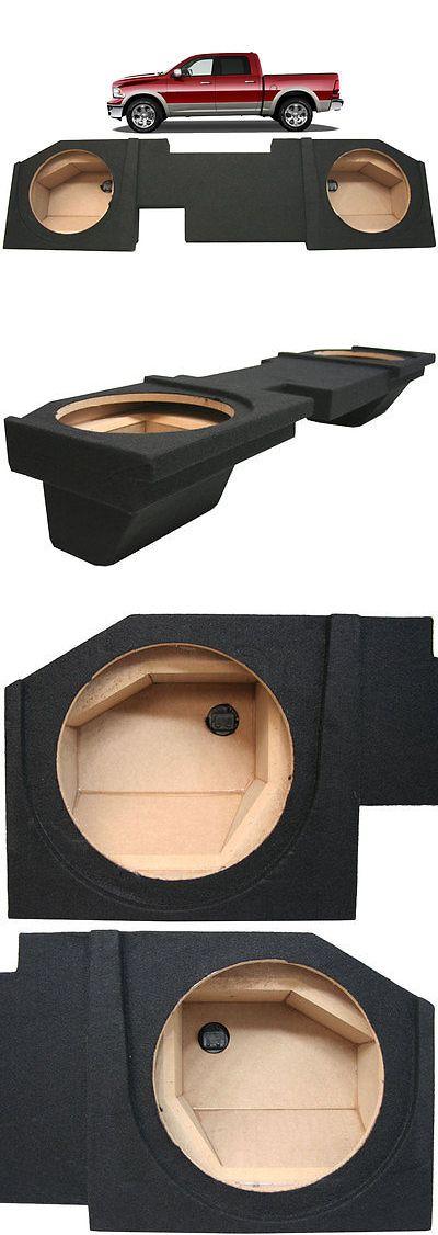 Speaker Sub Enclosures: 2002-2015 Dodge Ram Quad Crew Cab Truck Custom Dual 12 Subwoofer Speaker Sub Box -> BUY IT NOW ONLY: $94.95 on eBay!