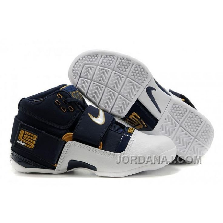 cheap and new nike lebron soldier I white deep blue gold