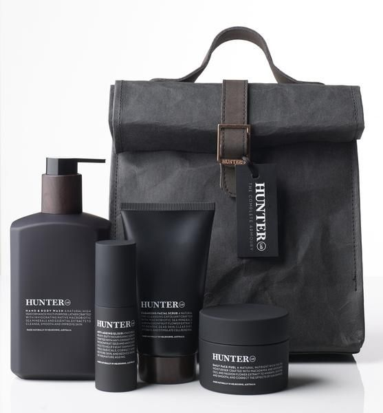 Description:   The Complete Armoury is the ultimate super natural skincare gift for the modern man Packaged in Hunter Lab's natural men's toiletries bag, T...