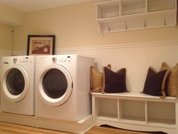 Yellow Laundry Room Design Ideas, Pictures, Remodel, and Decor