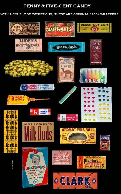 "Candy Made In The 1950S | FIVE-CENT CANDY – AVAILABLE IN EVERY ""SCHOOL STORE"" – 1950s ..."