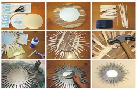 Como Decorar Un Espejo Madera Diseno S Pinterest Ideas