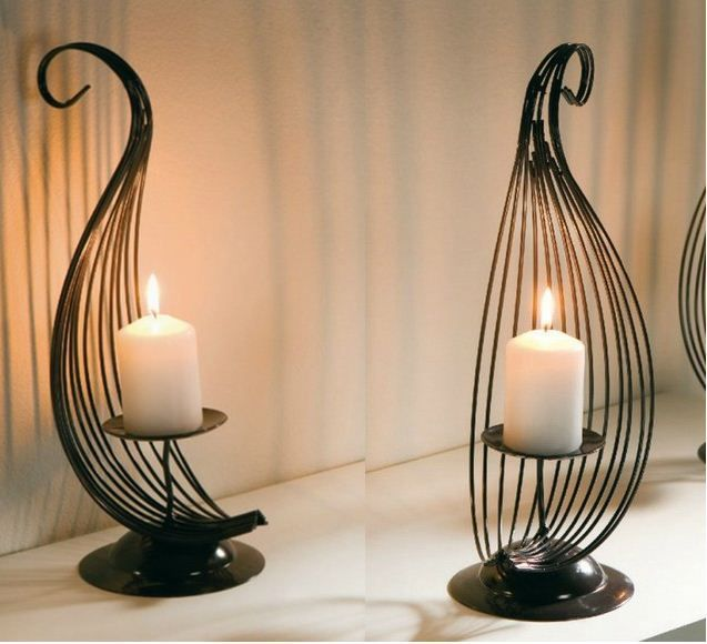17 Best Images About Candle Holders Wrought Iron On Pinterest Wrought Iron Candle Wall