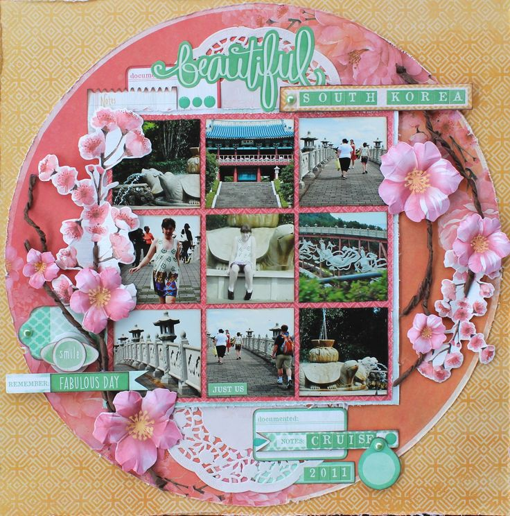 'Beautiful' Layout by Alison Bevis DT Kaisercraft using Cherry Blossom Collection~ Scrapbook Pages 1.
