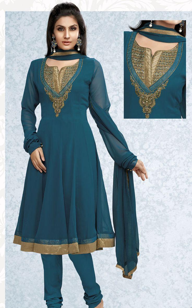 Buy Salwar Kameez | Churidar Neck Designs Buy Salwar Kameez And Sarees Online Cbazaar Pic ...