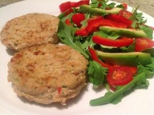 Curried Chicken and Mango Patties
