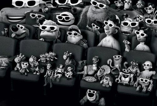 A gathering of Pixar characters from the studio's 11 films - Vanity