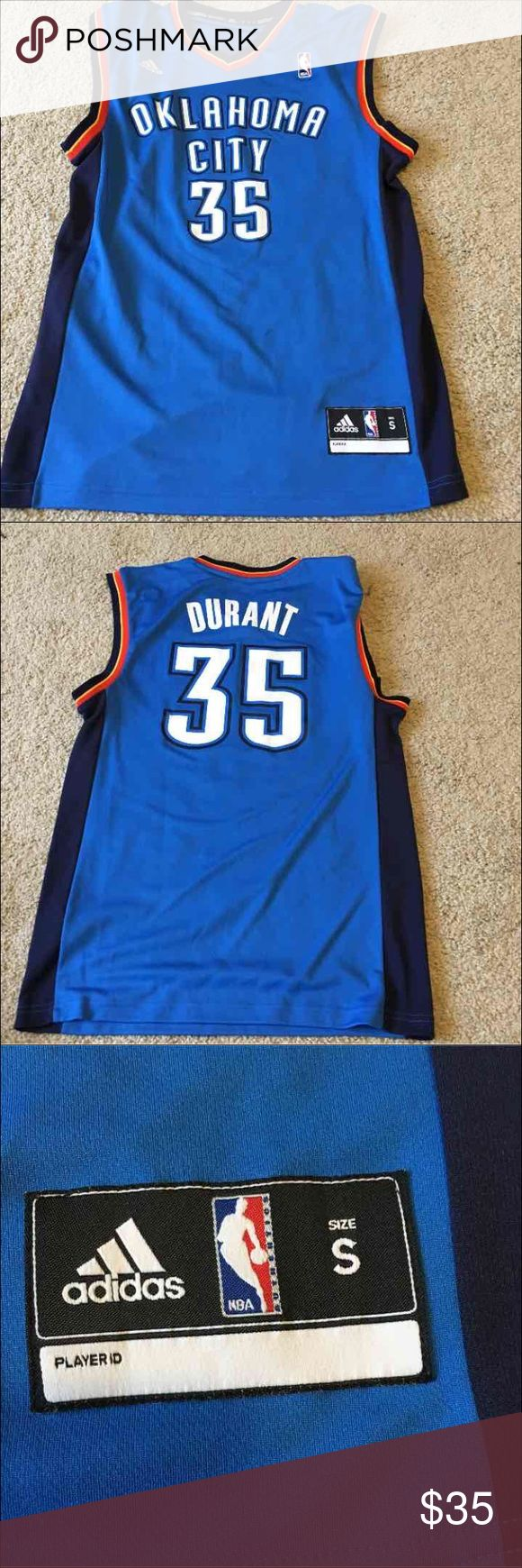 OKC Kevin Durant Jersey New jersey without tags. Smoke free hone with a hypo-allergenic dog. All items are washed before shipment.   Size: Mens small Adidas Shirts