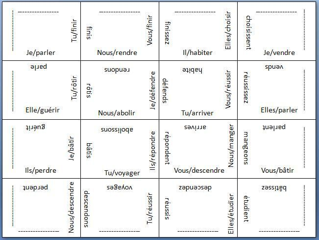 French Language Verb Puzzles Cool I Bet I Could Do Something Like This With Vocab And Phrases Too Verb Forms Foreign L Unterrichten Franzosisch Sprache