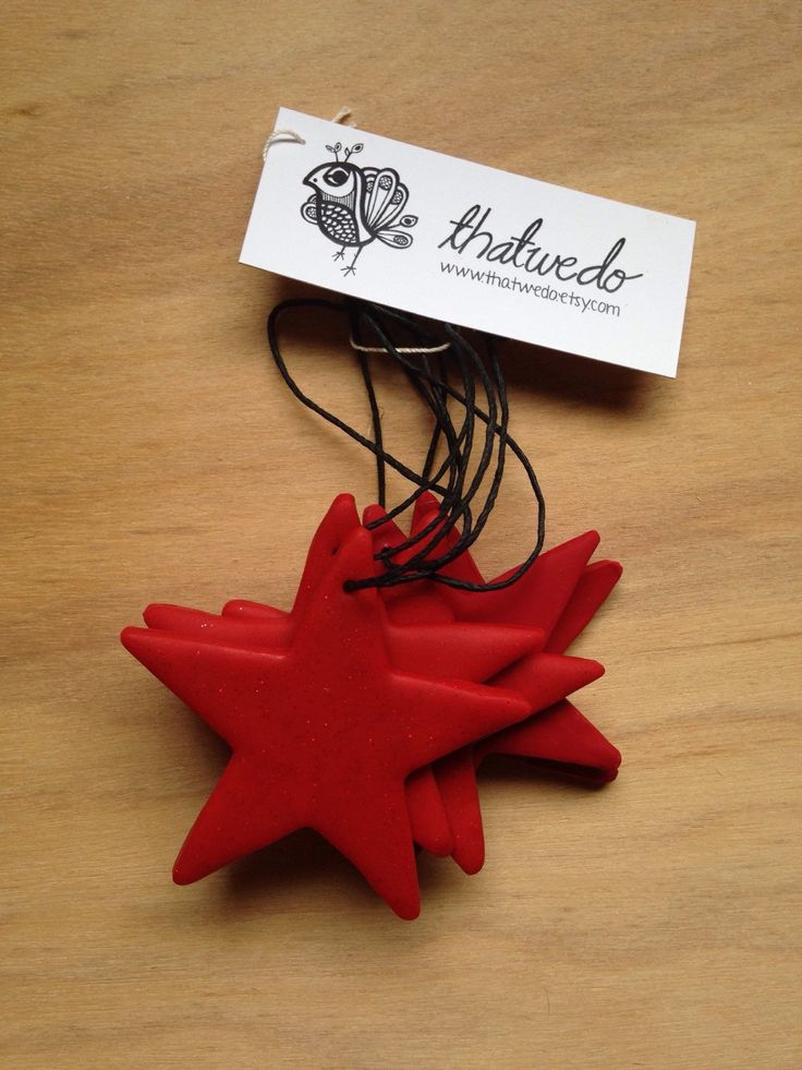 Handmade Christmas Decorations Pack - Red by ThatWeDo on Etsy https://www.etsy.com/listing/214036111/handmade-christmas-decorations-pack-red