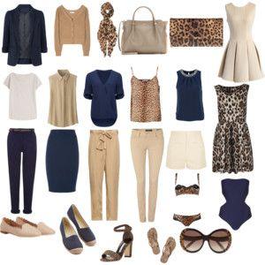 Leopard-accent capsule wardrobe