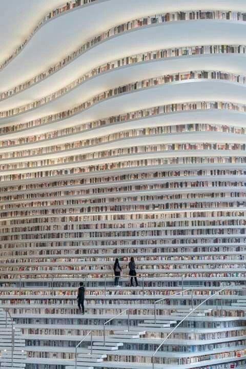 Bibliotecă în Tianjin,China. 1,2 milioane de cărți.