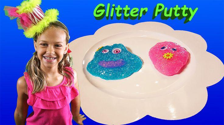 how to make glitter putty