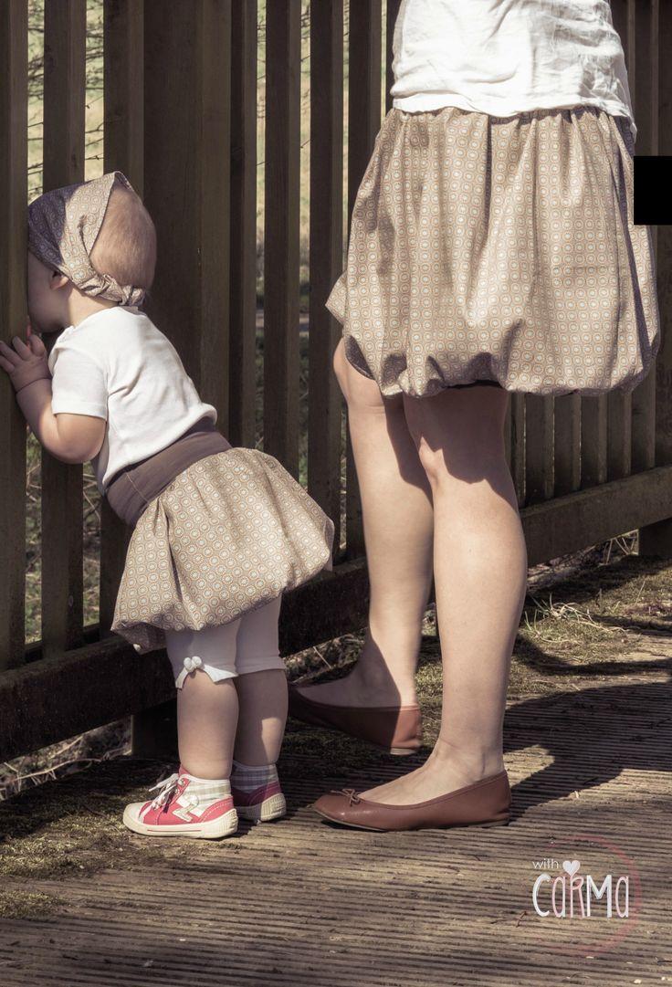 Carmalita ballonrock - bubble skirt - Mama und Tochter Partnerlook - Rock nach eigenen Massen nähen