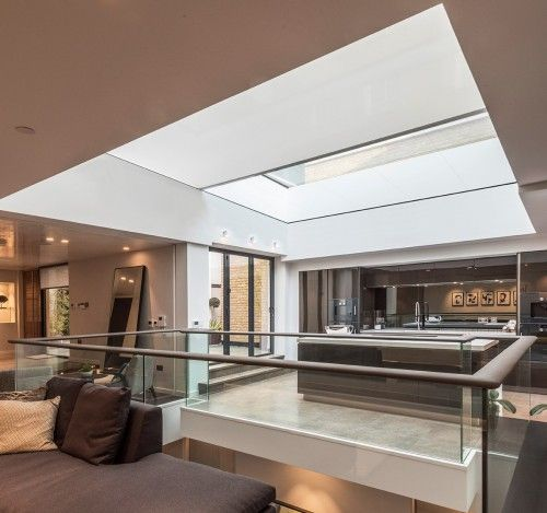 Concealed motorised skylight blind 5000mm x 6000mm  #glazing #shades #Blindspace