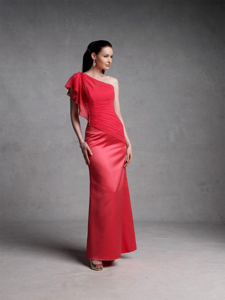 Groom Brides Maid Dress Red