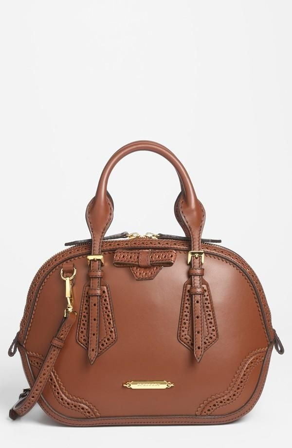 Burberry Orchard Brogued Leather Satchel