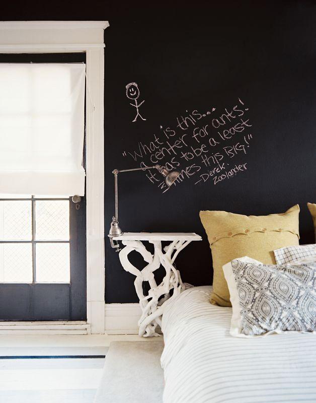 DIYable design: chalkboard headboard wall