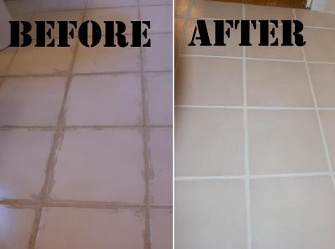 Removing Dried On Grout And Refreshing Lines House Cleaning Tips Hacks Spring