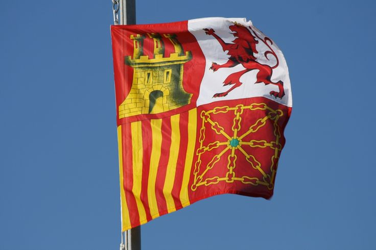Torrotito o bandera de proa de la Armada española.