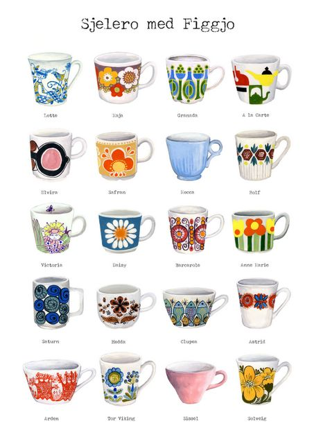 H a p p y ● I collect Scandinavian retro pottery. It makes me happy ♥