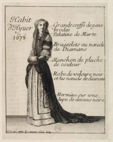 Habit d'hyver, le Mercure Galant d'octobre 1678 – Paris, Bibliothèque Nationale de France. 2) Mercure Galant: Dans 1° livraison date de 1672. Il est d'abord publié sous la forme d'un trimestriel, puis d'un menstruel à partir de 1677. Le Mercure Galant a pour but d'informer le public de sujets les plus divers et de publier des poèmes ou des historiettes. Cette publication bénéficie d'un privilège royal.
