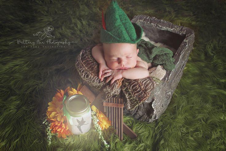 Peter Pan Neverland Tinkerbell Newborn Baby Photography #baby #peterpan #disney …