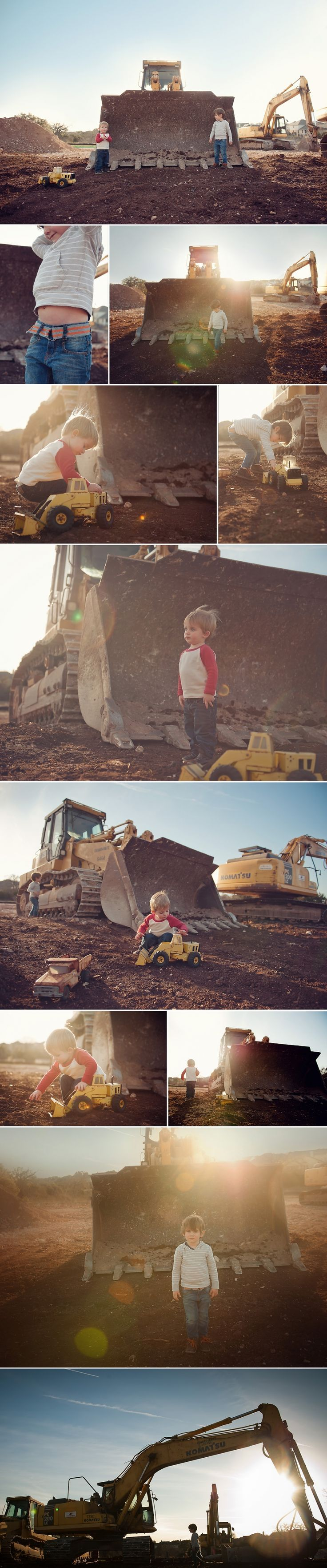 I am planning to do a shoot like this and will need two small children with their own little construction equipment..