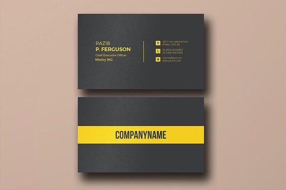 Stylish Business Card by Rongmistiry on @creativemarket