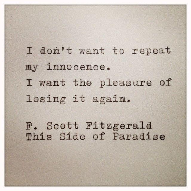 F Scott Fitzgerald ❤❦♪♫