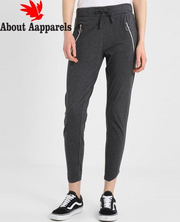5c6d904bf Women Grey Jersey Zipper Jogger | Women Sweatpants & Joggers | Joggers with  zippers, Fashion joggers, Joggers
