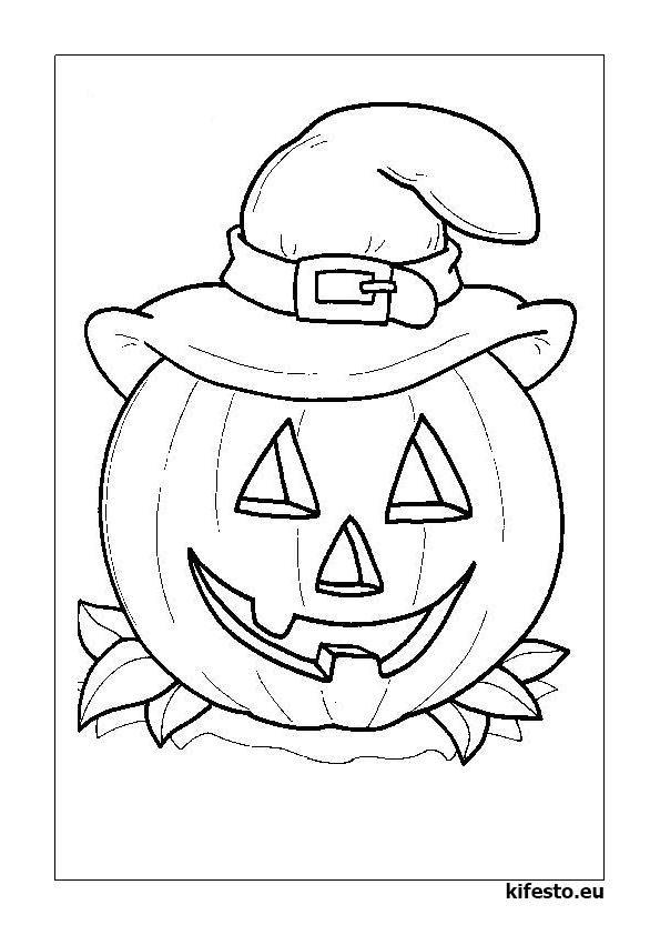 Halloween kifestők és színezők. Halloween nyomtatható ...