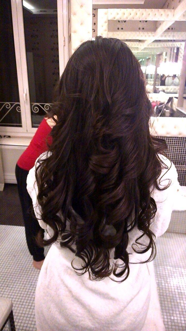 hottest down wedding hairstyles with big curls by Janita Helova www.janitahelova.com