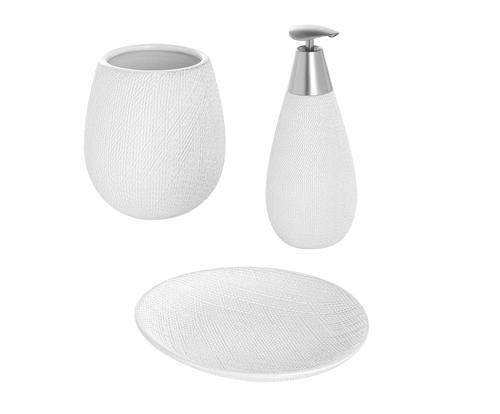 Set da bagno safari in ceramica bianco 3 colore Bianco 1500 - Prezzo