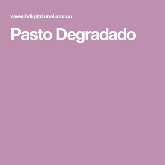 Pasto Degradado