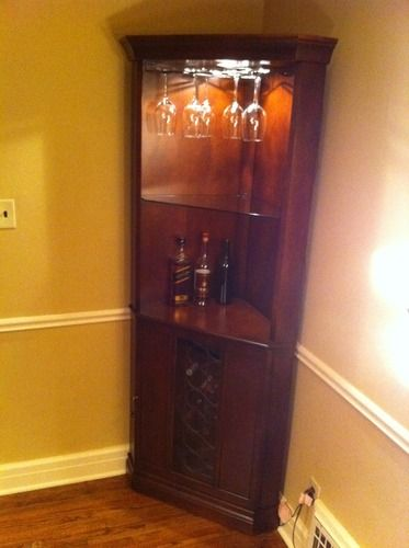 Pin By Crystal Rehak On For The Home Corner Wine Cabinet