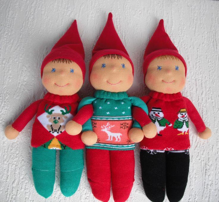 Christmas Elf Doll in Waldorf style by WaldorfDollsByIren on Etsy