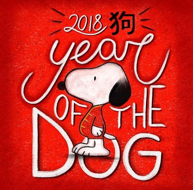 2018 Year of the Dog #snoopy