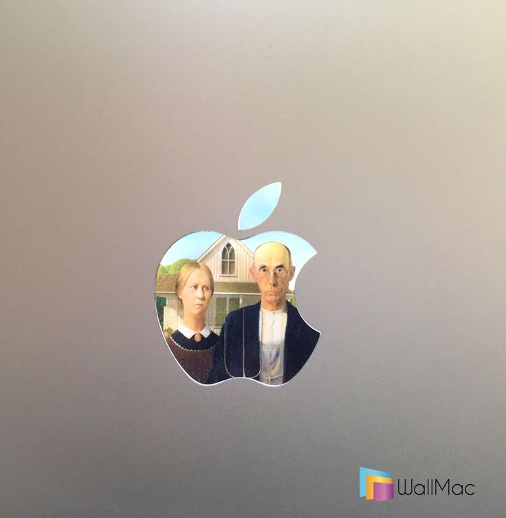 American Gothic Glowing Backlit Apple Logo for MacBooks 2 Decals per Order by WallMac on Etsy