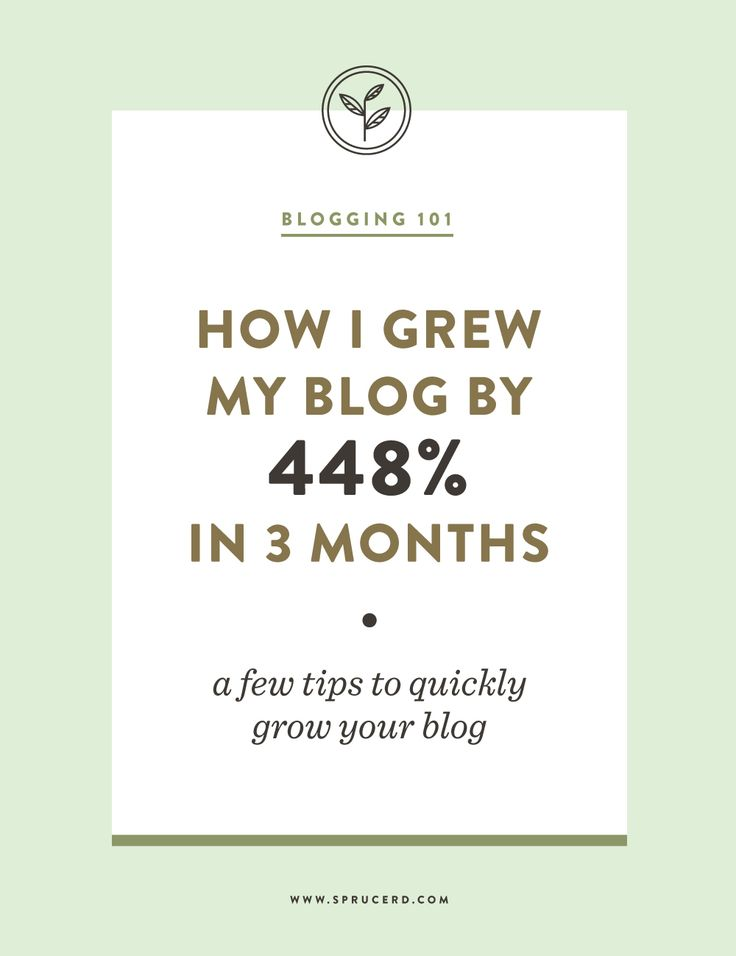 How I grew my blog by 448% in 3 months | Tips to quickly grow your blog - Spruce Rd.