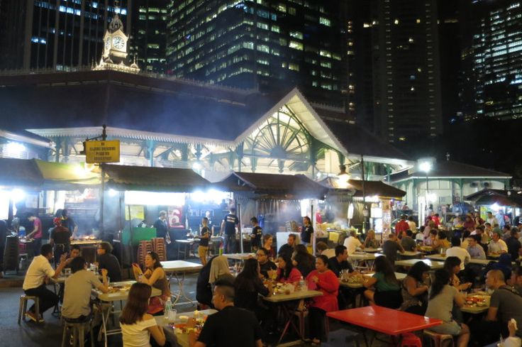 A culinary guide to Singapore: what to eat and where from Lonely Planet - Image by Sarah Reid - Satay stalls outside Lau Pa Sat, Singapore.