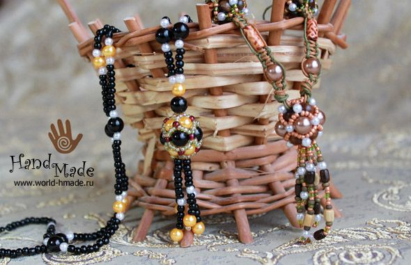 Ожерелье своими руками: плетение бусин из жемчуга и бисера. Мастер-класс.